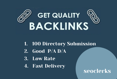 100 Directory Submission Backlink