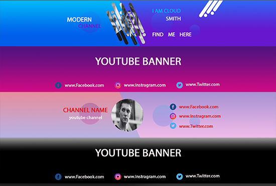 I will design an outstanding youtube banner.