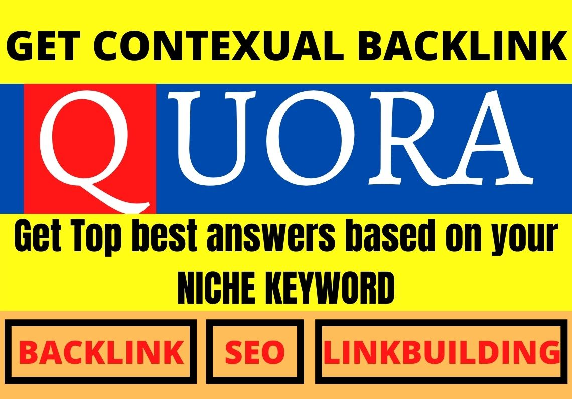 Promote your website with 50 HQ Contextual Quora answers