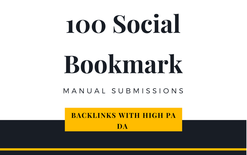 I will creat 100 Social Bookmarking Submission with high quality backlink