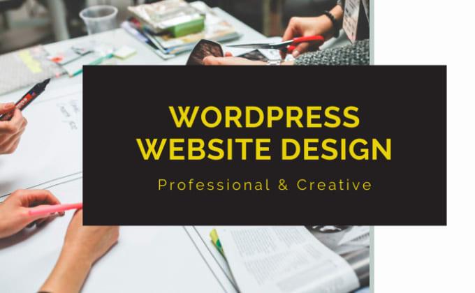 I will create,  customize,  edit,  fix,  rebuild,  redesign WordPress website