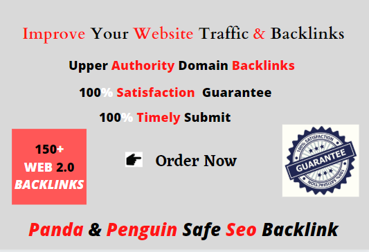 I will make 150+manual web 2.0 backlinks for unique sites.