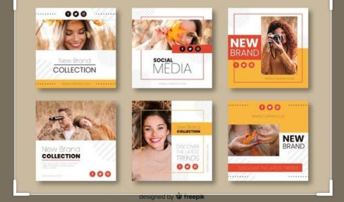 Social media post designs and contents