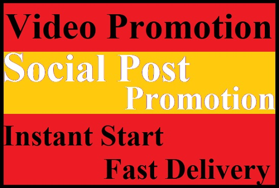 Promote Social Video and Post Promotio with active audience