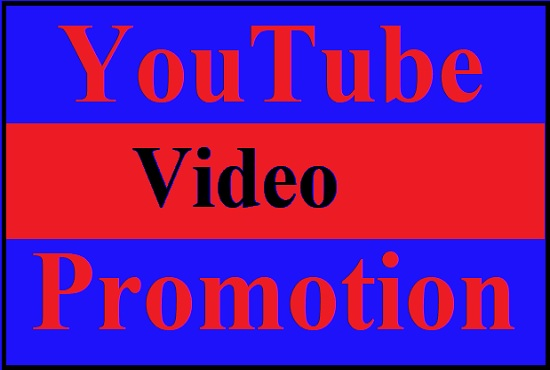 Do youtube video promotion with active audience