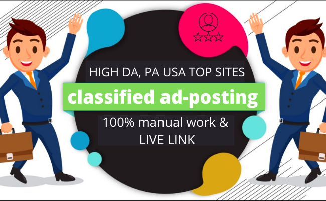 I will Publish your ads in 100+ top UK,  Canada,  Australia and USA classified ad posting sites