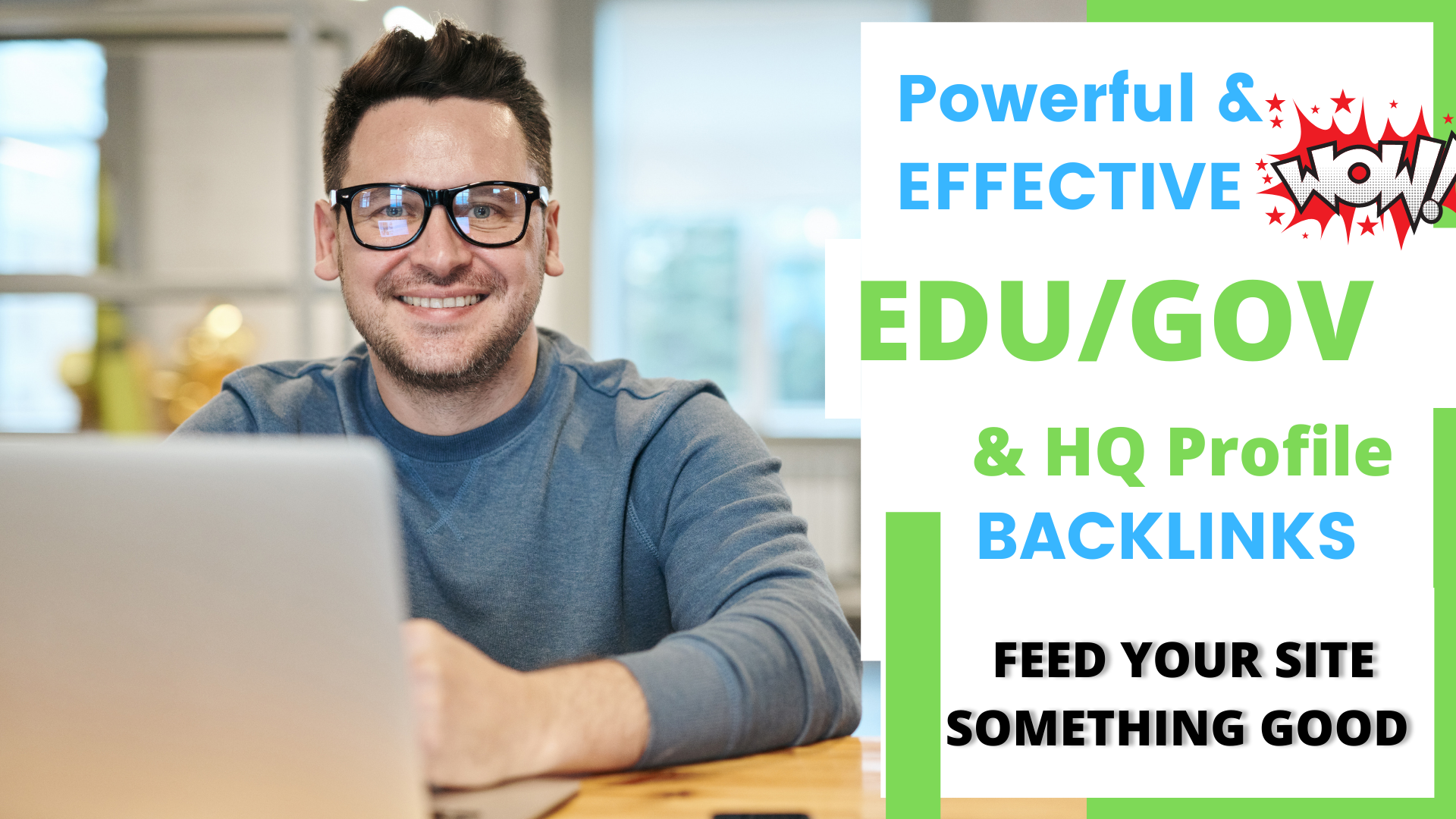 Powerful & Effective 17 plus EDU/GOV & 50 HQ profile back-links. Feed your site something good