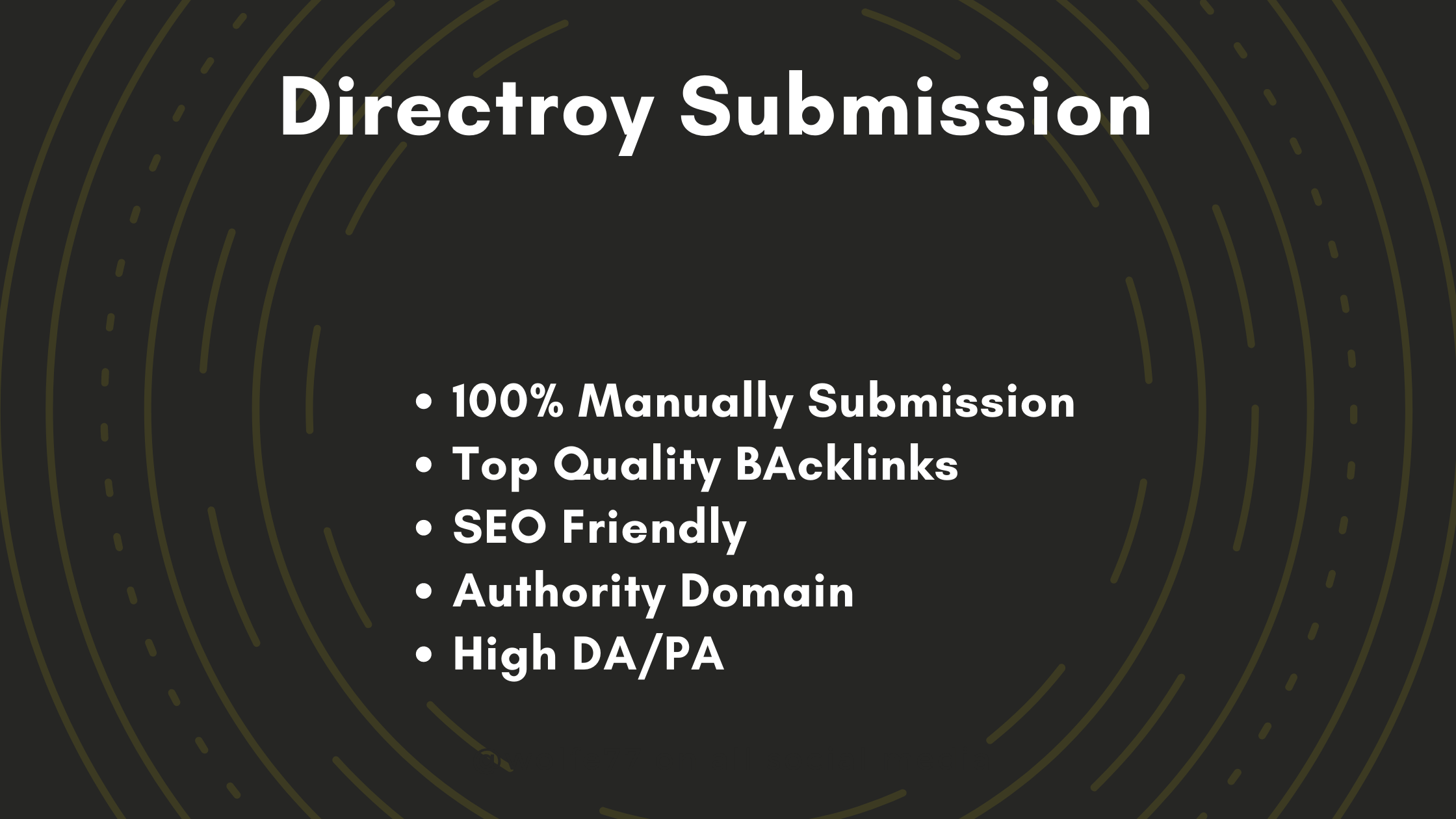 50 Web Directory Submission Manually
