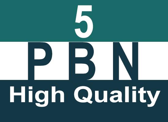 Create 5 High Quality Hompage PBN Backlinks
