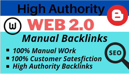 Build 20 High DA PA Contextual web 2 0 backlinks of High PR mostly dofollow