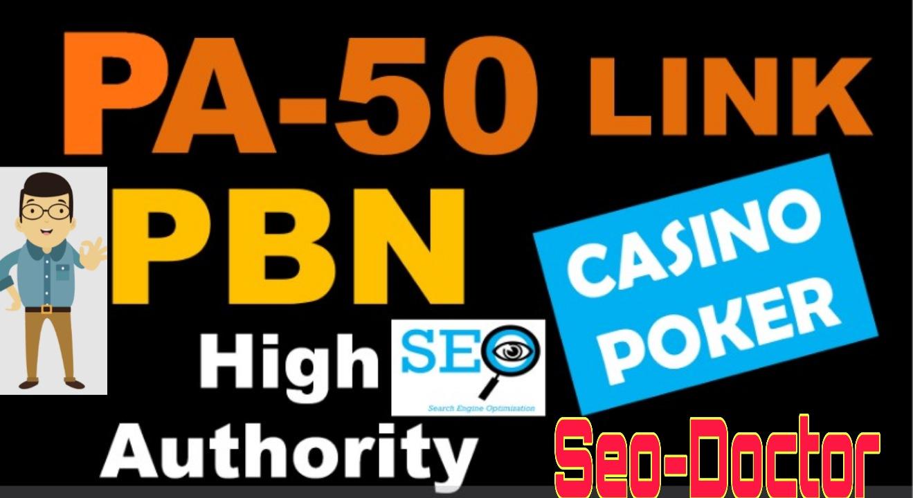 PBN PA 50 High Authority Backlinks for Casino Poker & Gambling Websites fast Google Ranking