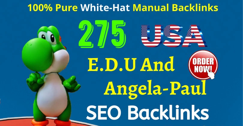 Buy 275+, USA edu backlink with high authority SEO backlinks service,  link building