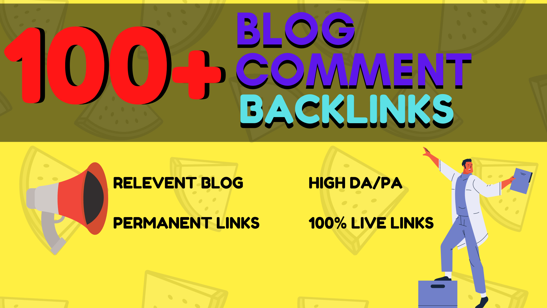 Manually Create 100+ Blog Comments Backlinks on High Authority Sites