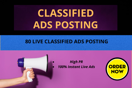 I Will Do Manually 80 Classified Ads Posting on Top Ads Sites