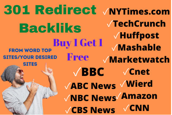 I will find expired domain for 301 redirect backlinks from top sites