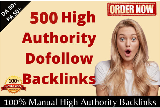 I will do manual high authority SEO dofollow backlinks