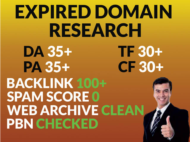 I will find your niche related expired domain with high da