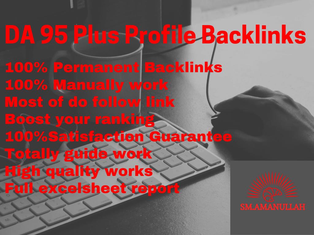 I Will Do 100 Profile Backlinks DA 95 Plus For Elevate Your Ranking