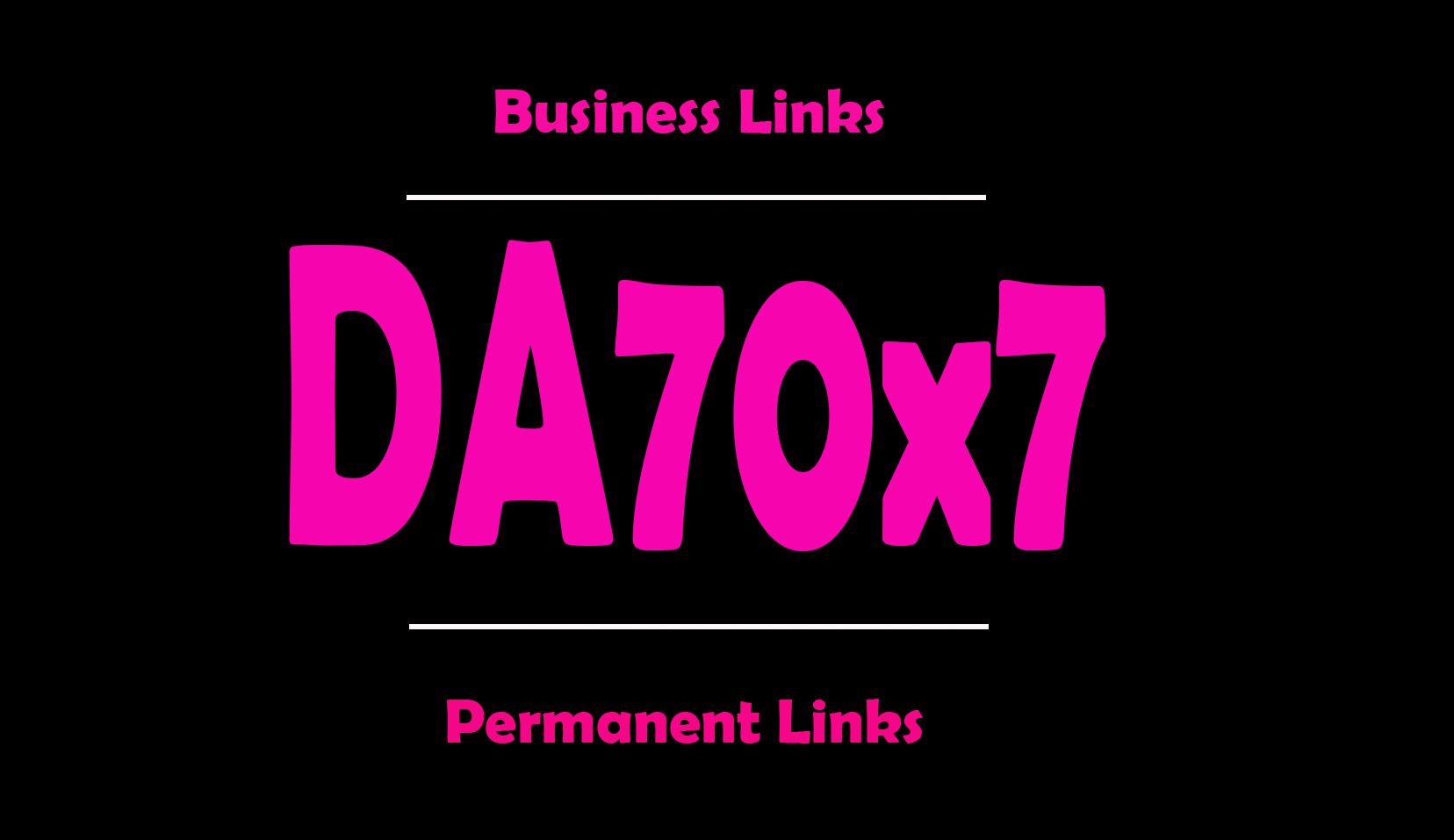 give backlinks DA70x7 business site blogroll permanent