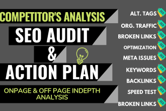 Depth SEO Audit your Website and Provide Consultant Report