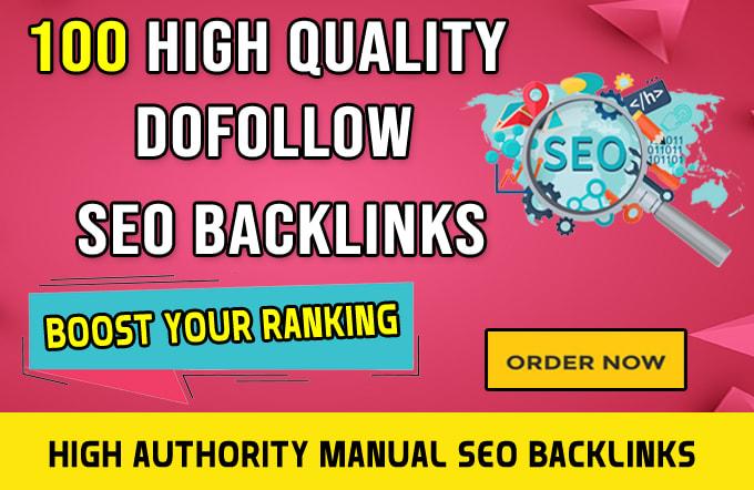 I will build high quality 100 dofollow SEO backlinks