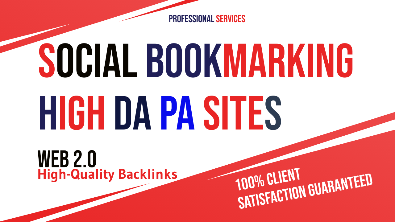 I will create top 30 high quality social bookmarking backlinks for google ranking