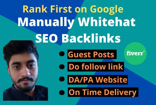 I will provide professional Manual Whitehat SEO Backlinks