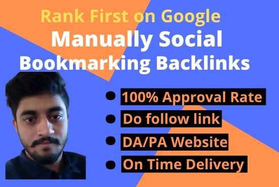 I will provide 15 high DA social bookmarking Backlinks for your website
