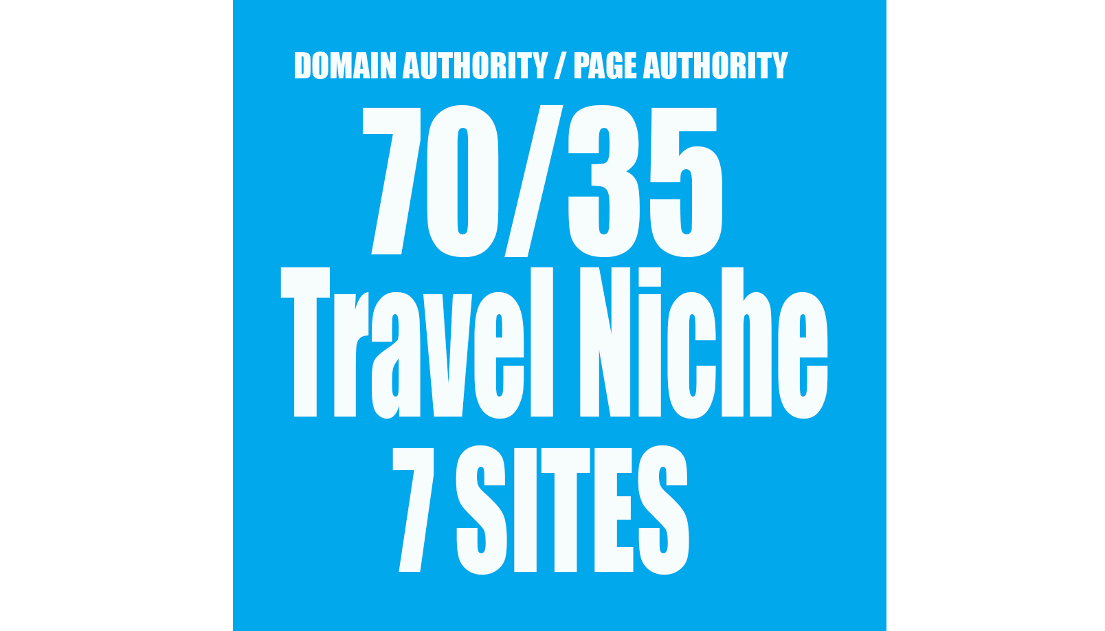 I will give you 7 Permanent Backlinks on Homepage TRAVEL Niche