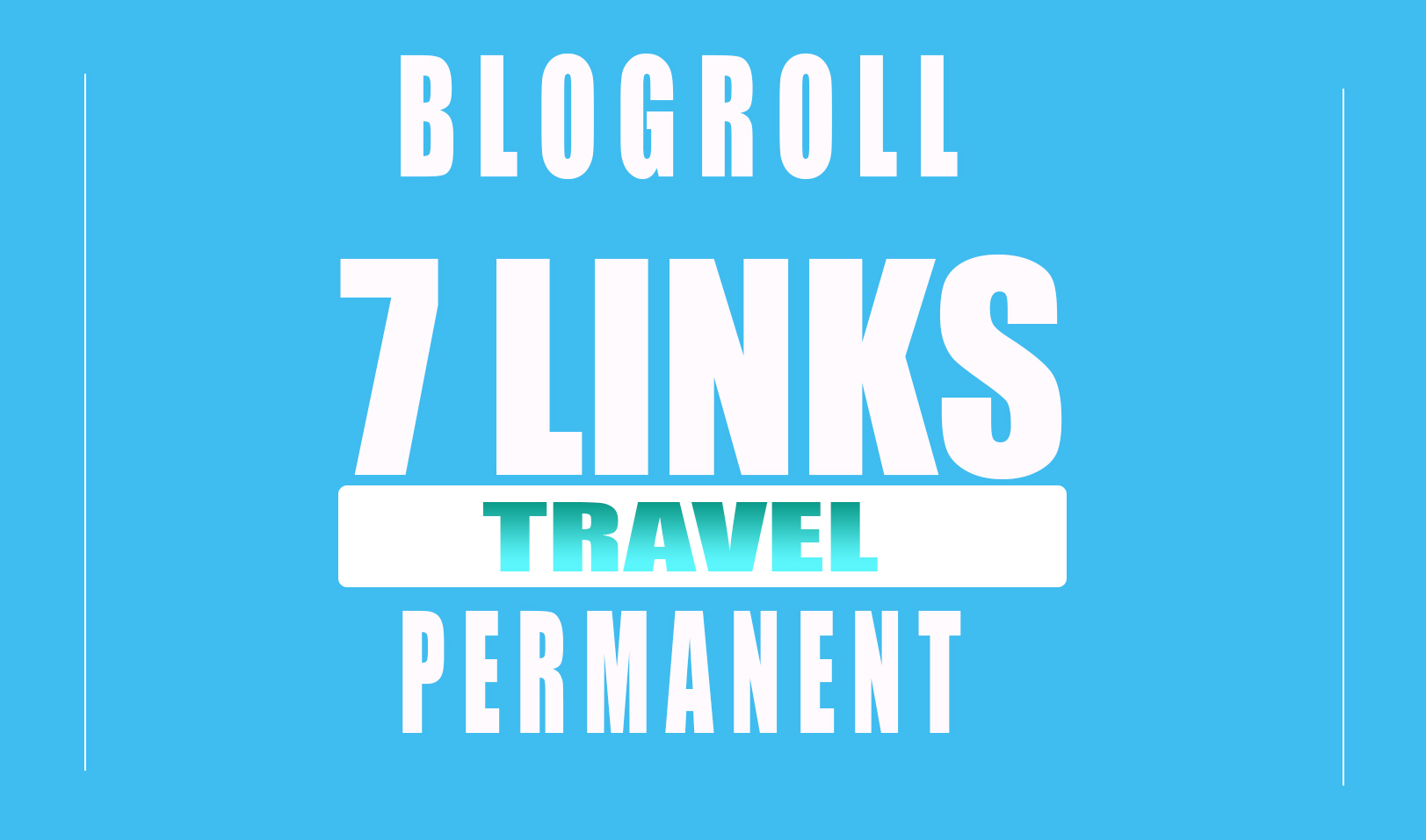 Backlinks DA70x7 TRAVEL SITE Blogroll permanent