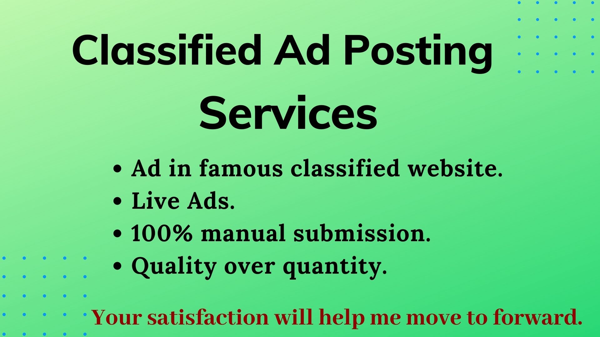 I Will Do 100+ Manual Classified Ads Posting On Top Ad Websites