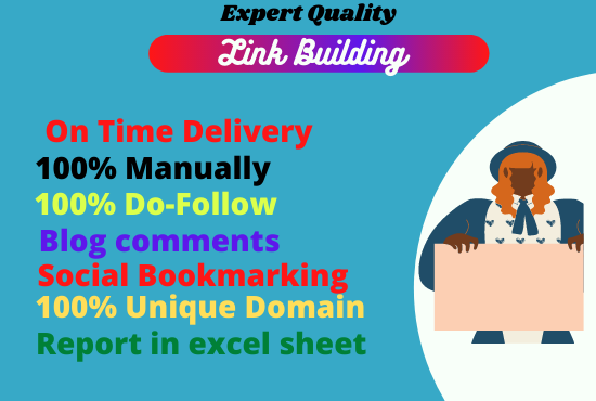 I will create dofollow SEO backlinks and link building service