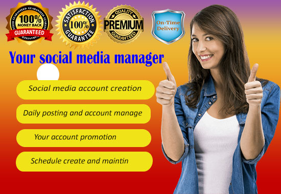 I will be your online Social media manager and content creator