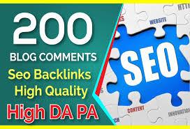 i will do 200 backlink manual blog comment high DA dofollow backlink low spame score