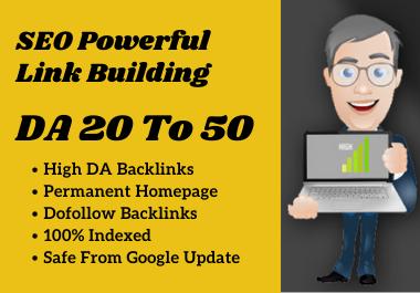 Create 5 High DA 20 to 50 Offpage SEO PBN Backlinks For Google Ranking