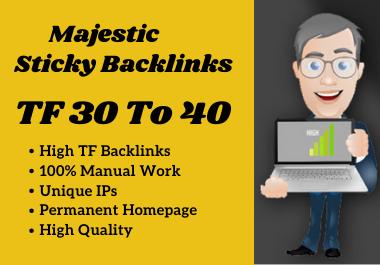 Make 10 High Quality TF CF 30 To 40 Manual SEO Dofollow PBN Backlinks