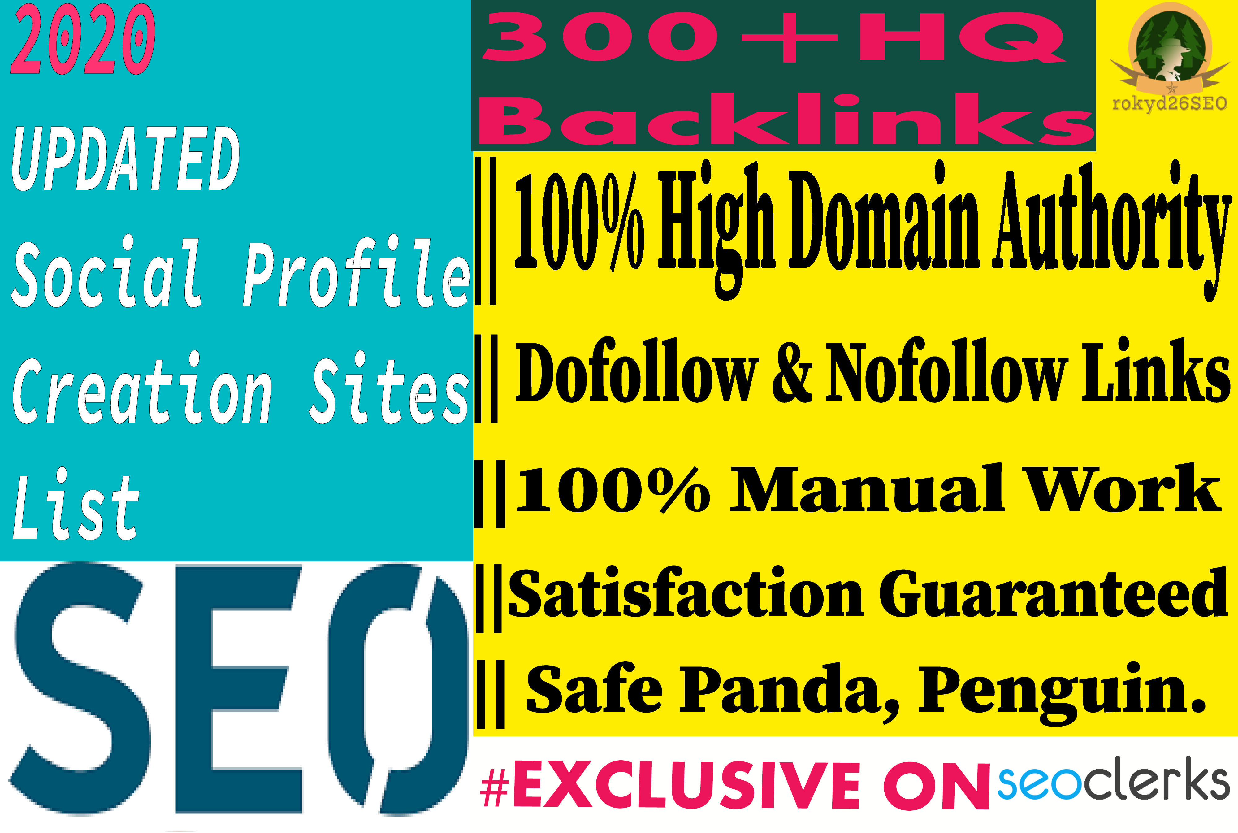 I will create 40 High_Quality Social Profile Creation Backlinks in your website on proper sites