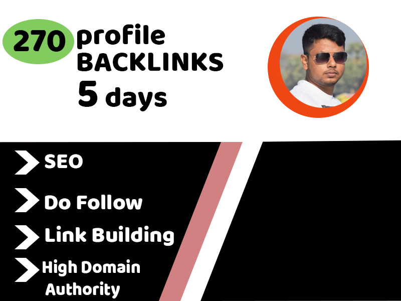 I will create 270+ dofollow profile backlinks with high quality SEO