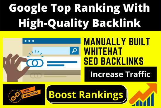 google top ranking with high quality backlink for your website