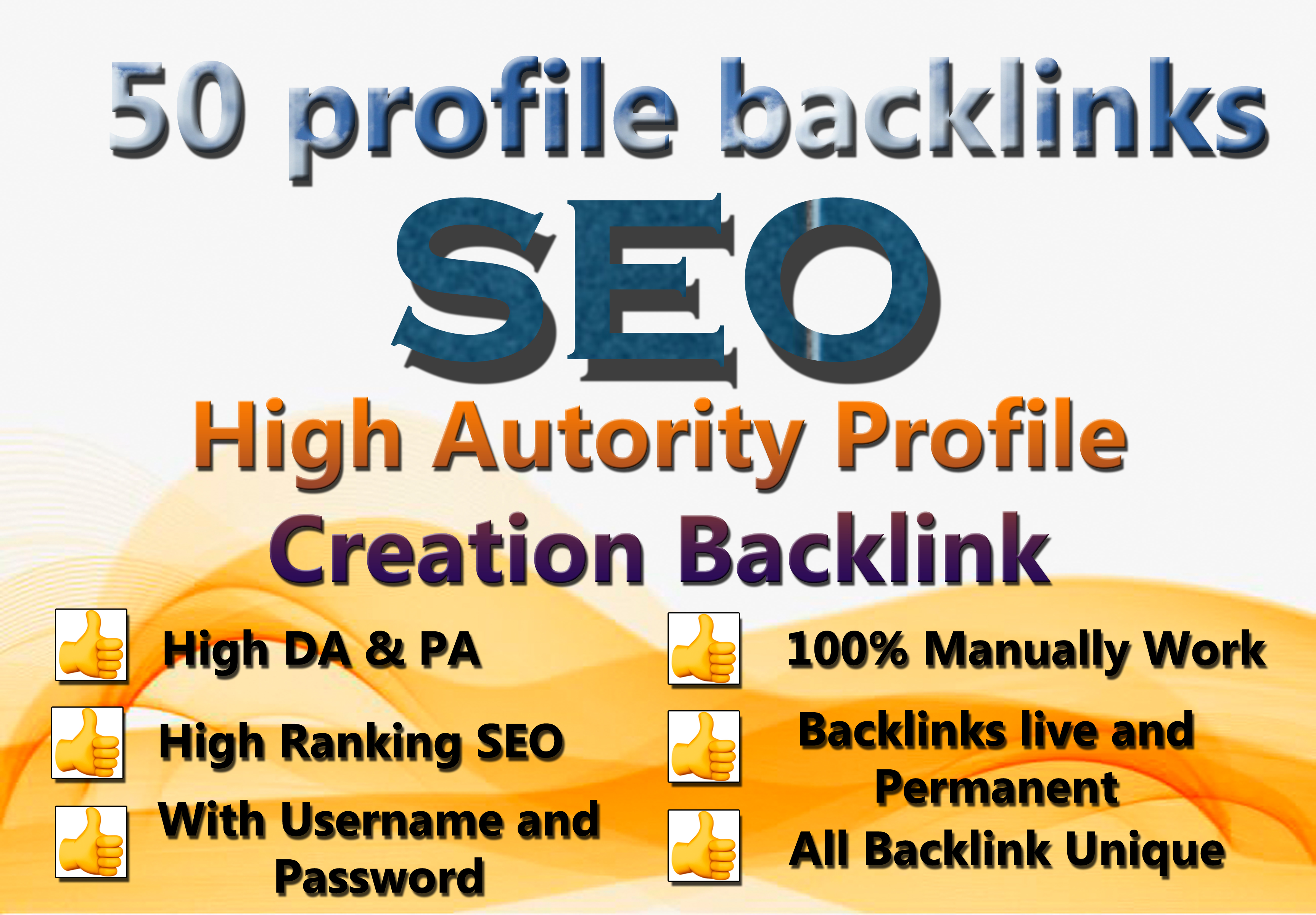 I will make 50 Unique High Authority Profile Backlinks