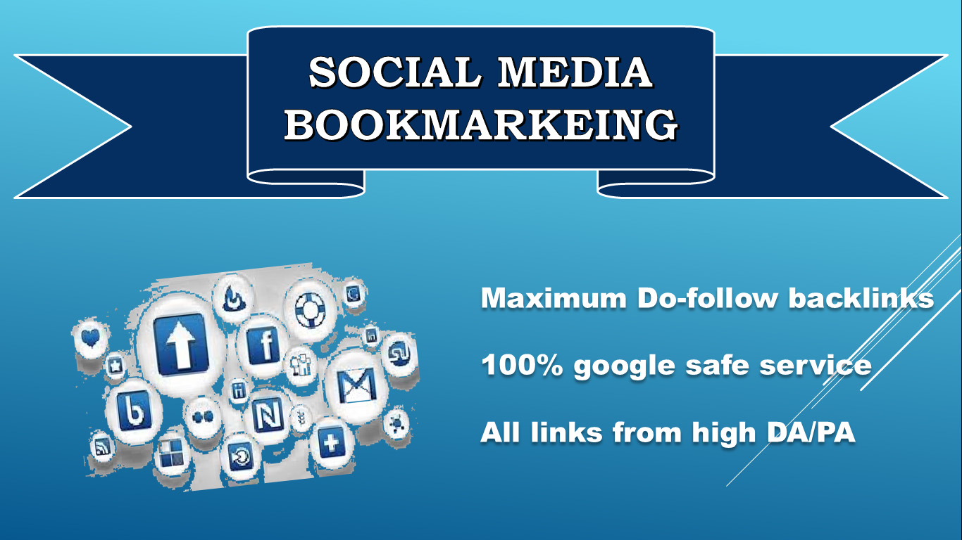 Promote your website by 25 High PA,  DA Social Bookmarking back-links.