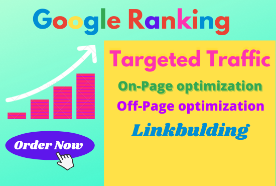 I will Offer you guaranteed Google 1st-page ranking with best SEO Sevice