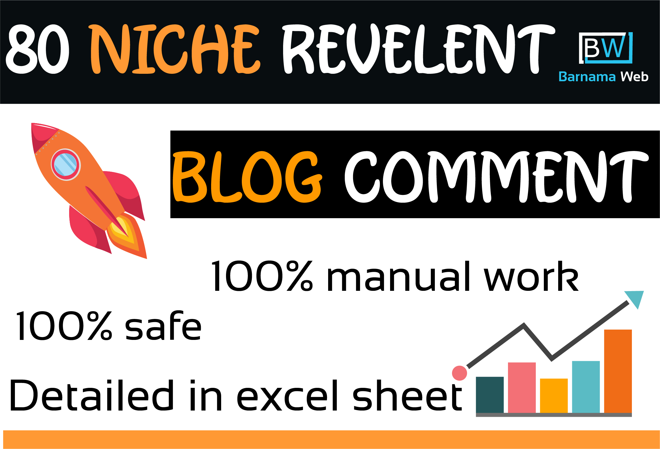 I will provide 80 niche relevant manual blog comment backlinks