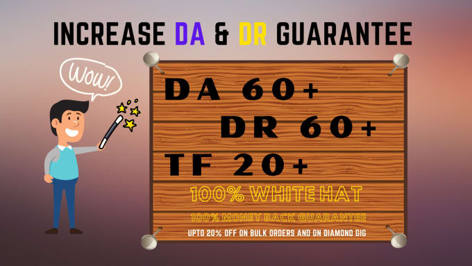 I will manually create 100 High Quality DA DR and TF of your domain
