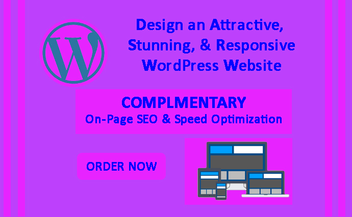 I will design Attractive and Responsive ECommerce WordPress Website