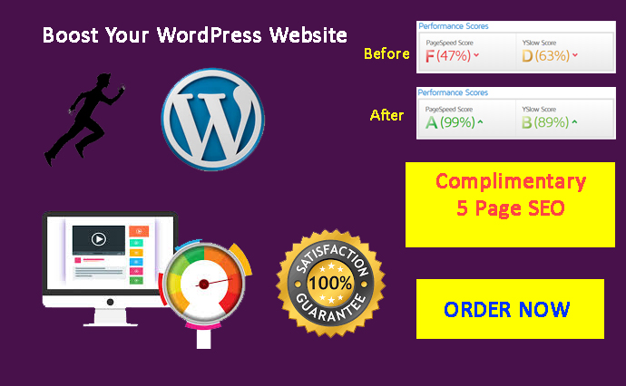 I will do WordPress website speed optimization,  increase page speed Superfast