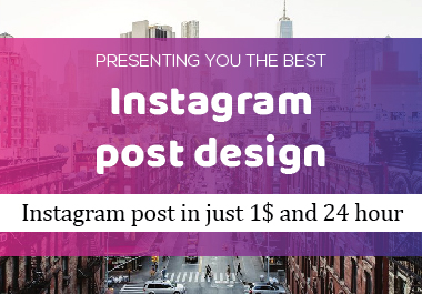 i will create unique design for Instagram post design