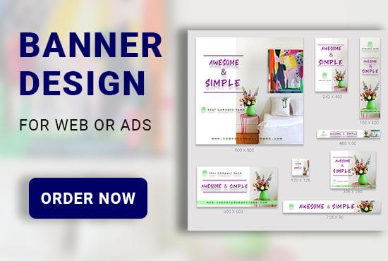 I will do banner design, web banner, banner ads, social media banner,  google banner