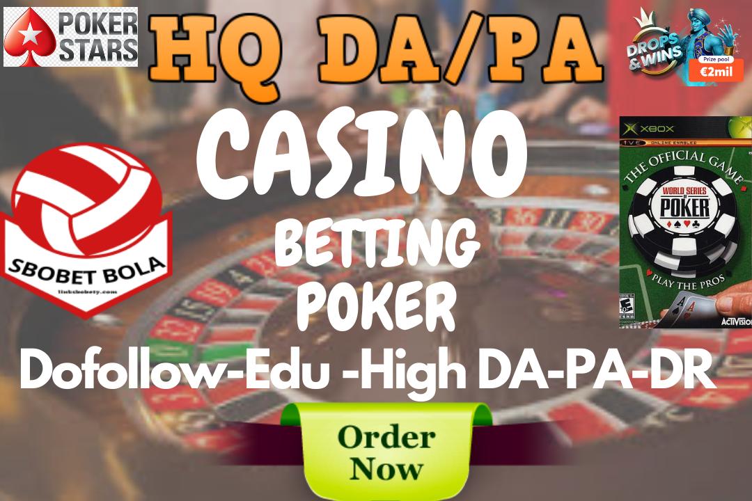 Google Top Ranking Backlinks Package For Gambling,  Sbobet,  Betting,  Poker,  Casino,  Adult Sites too