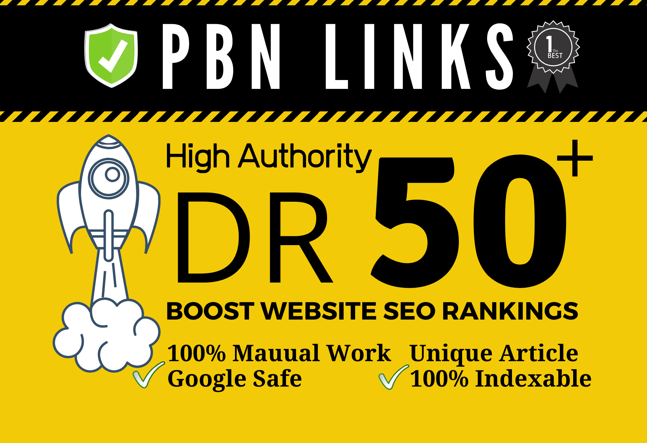 Build 20 homepage pbn high quality dofollow backlinks dr 50 plus